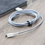TANK Premium 5' Micro USB Charge Cable White