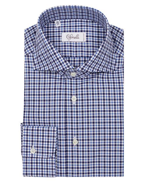 Navy Check Classic Shirt