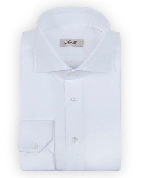 White Shirt with Button Cuffs