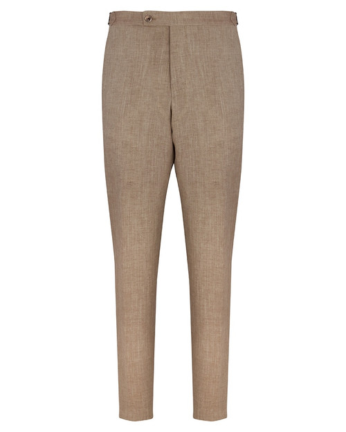 Beige Linen Wool Trousers