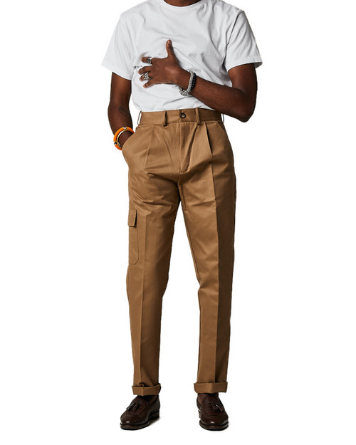 Light Taupe Cargo Trousers