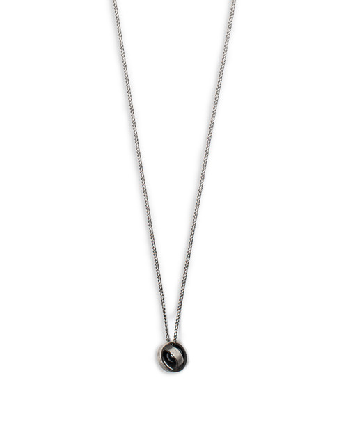 Black Pearl in Sphere Necklace