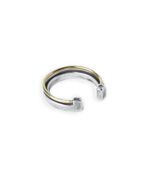 18k Gold Wire to Solid Ring