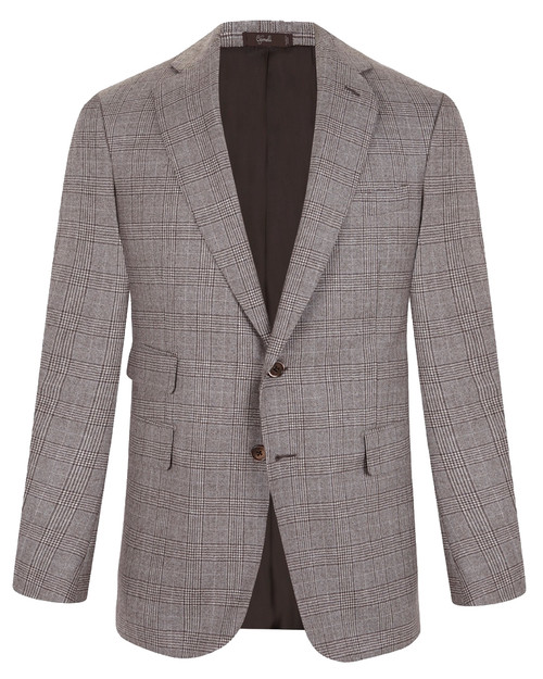 Marbeuf Brown Checked Wool Jacket