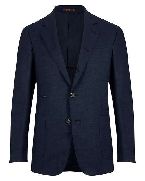 Montecarlo Navy Wool Travel Jacket