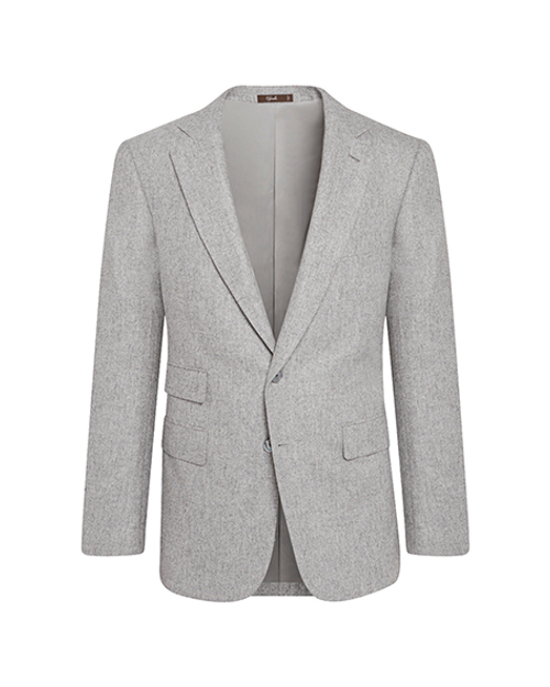 Marbeuf Light Grey Virgin Wool Single Breasted Jacket
