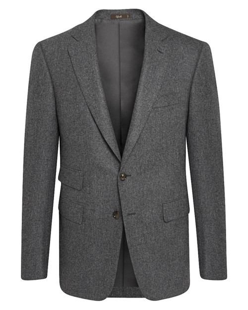 Marbeuf Grey Wool Single Breasted Jacket