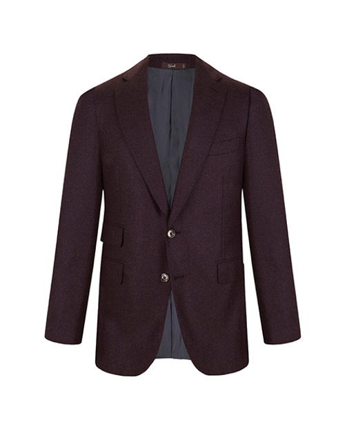 Marbeuf Burgundy Cashmere Single Breasted Jacket