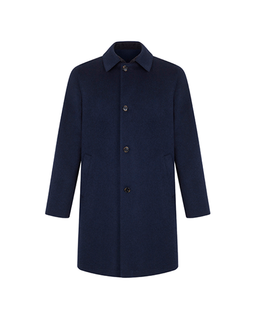 Navy Cashmere Reversible Trench Coat