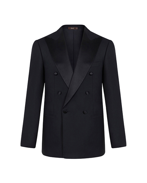 Marbeuf Two Piece Double Breasted Black Tuxedo Suit
