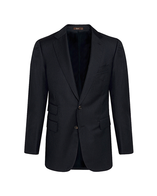 Marbeuf Navy Pinstripe Wool Single Breasted Suit