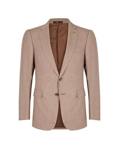 Marbeuf Tan Single Breasted Two Piece Suit