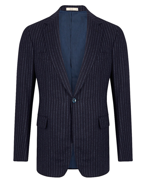Montecarlo Navy Wool Chalkstripe Single Breasted Suit