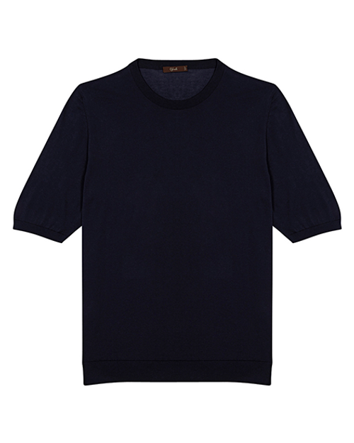 Navy Cotton Crew Neck T-shirt