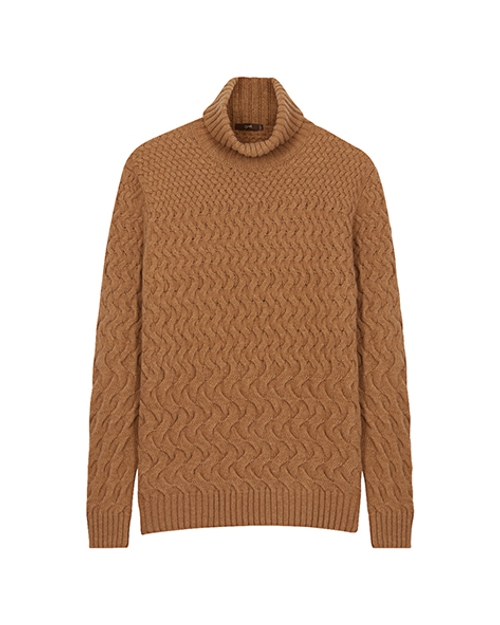 Beige Wool Rollneck Jumper