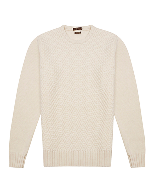 White Cashmere Crew Neck Sweater