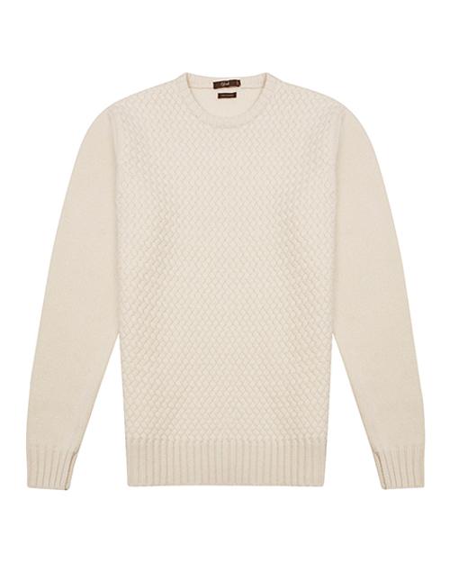 White Cashmere Crew Neck Sweater
