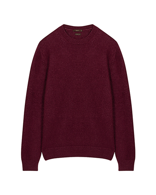 Cherry Cashmere & Silk Crew Neck Jumper