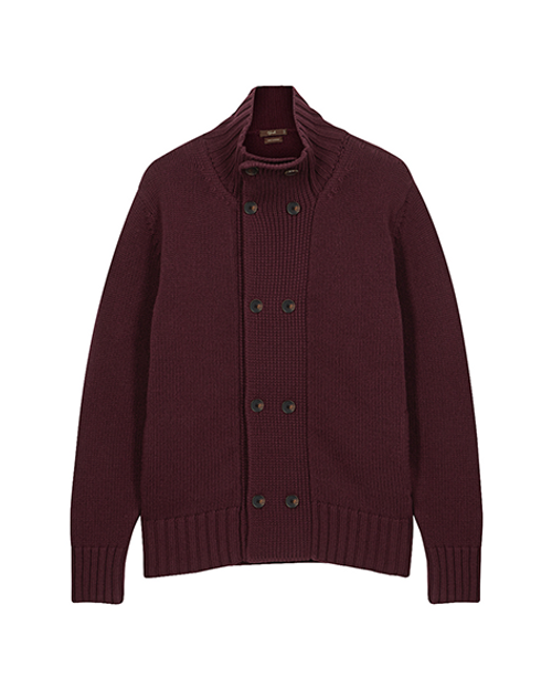 Bordeaux Pure Cashmere Cardigan
