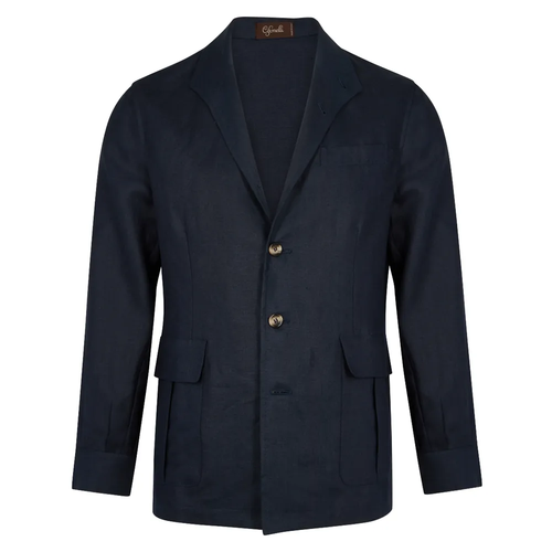 Navy Linen Teba Jacket