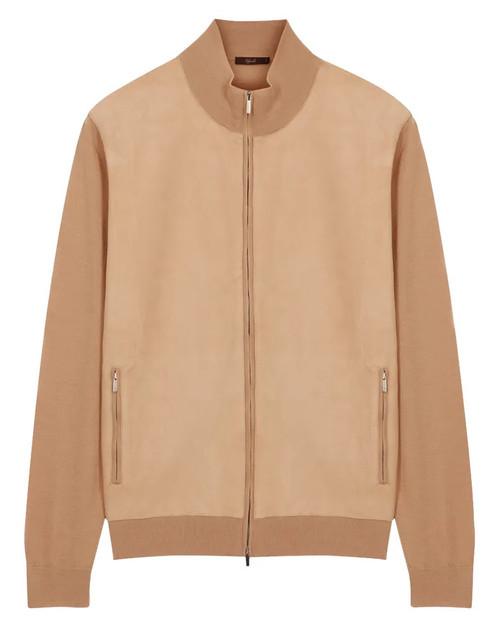 Cream Cashmere Knitted Bomber Jacket