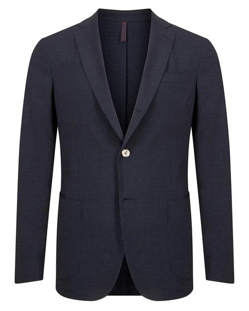 Monte Carlo Navy Seersucker Single-Breasted Drawstring Waist Trouser Suit