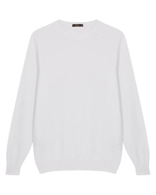 White Cotton Bahamas Crewneck Sweater