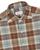 Brown, Blue & Orange Check Cotton Spread Collar Button Down Pique Shirt