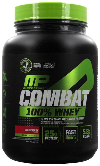 MusclePharm Combat 100% Whey Sport Series 907 G (2 LB) New Version