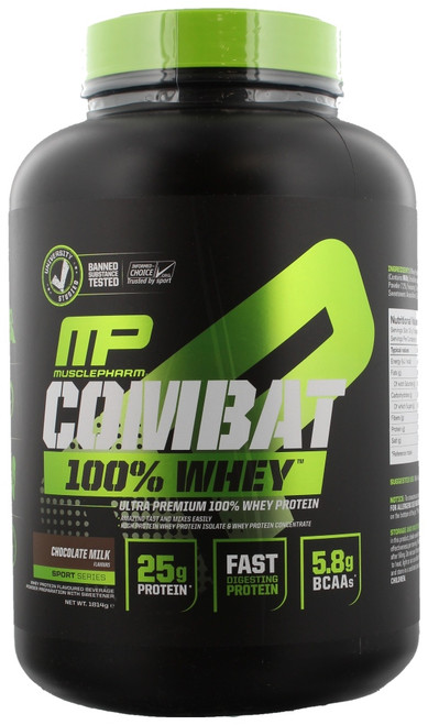 MusclePharm Combat 100% Whey Sport Series 1814 G (4 LB) New Version