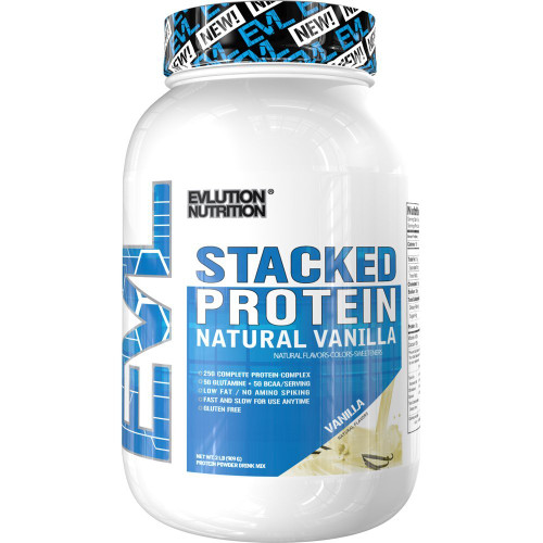 Evlution Nutrition Stacked Protein Natural Vanilla 909 G (2LB)