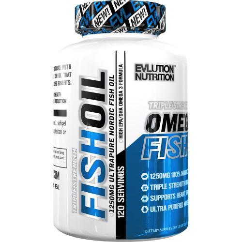Evlution Nutrition Omega 3 Fish Oil 120 Softgels (120 Pills)