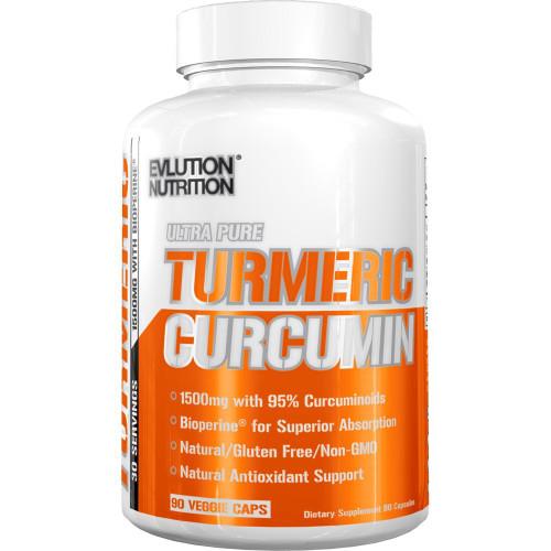 Evlution Nutrition Turmeric Curcumin 90 Capsules (30 Servings)