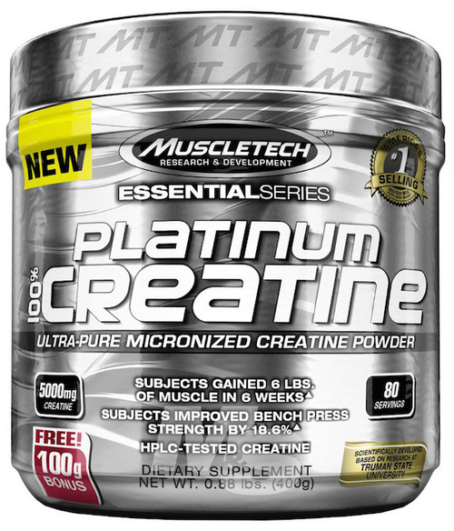 Muscletech Platinum 100% CREATINE 400 G (80 Servings)