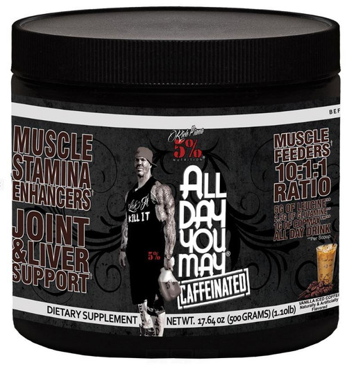 Rich Piana 5% All Day You May Caffeinated 25 Servings