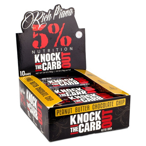 Rich Piana 5% Knock The Carb Out x 10 Bars Pack