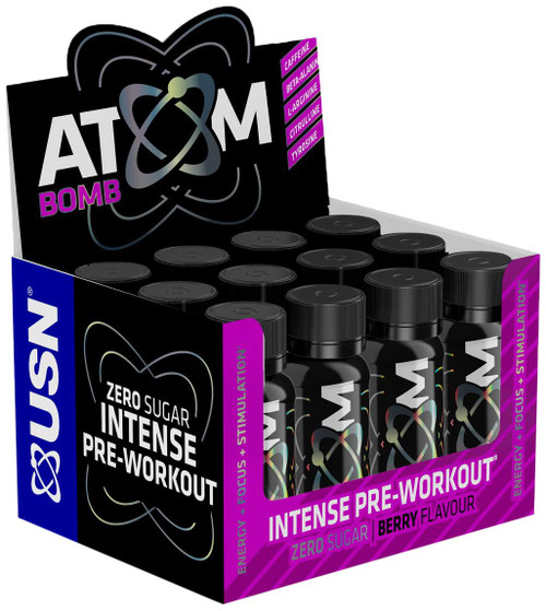 USN Atom Bomb Pre-Workout Shot 60 ML x 12 Shots Pack