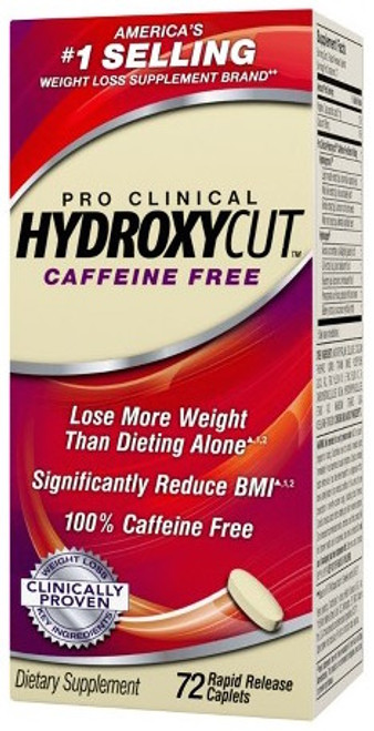 Muscletech HYDROXYCUT Pro Clinical Caffeine Free 72 Capsules