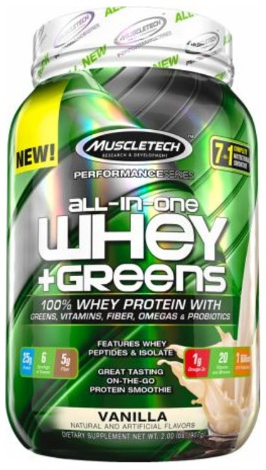 Muscletech All-In-One WHEY + GREENS 907 G (2 LB)