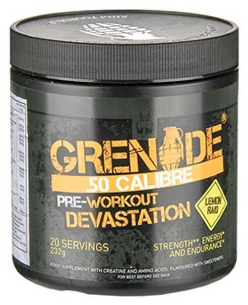 Grenade .50 CALIBRE Pre Workout 232 G (20 Servings)
