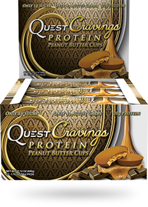Quest Cravings Protein Peanut Butter Cups X 12 Pack