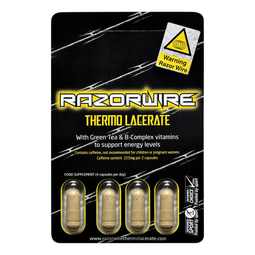 Razorwire Thermo Lacerate 4 Capsules Blister Pack