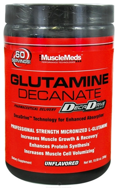 MuscleMeds Glutamine Decanate 300 G Unflavored