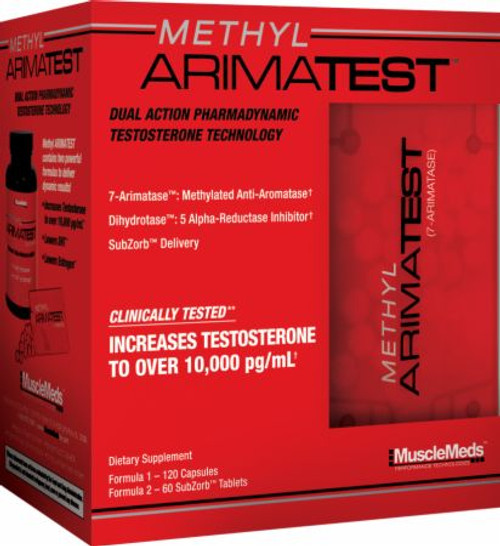 MuscleMeds Methyl Arimatest 120 Capsules + 60 SubZorb Tablets