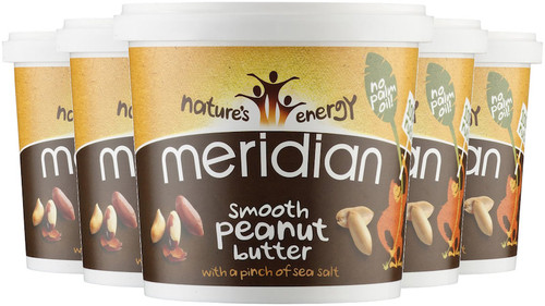 Meridian Smooth Peanut Butter with Salt 1 KG x 6 Pack