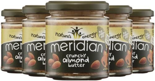 Meridian Crunchy Almond Butter 170 G x 6 Pack
