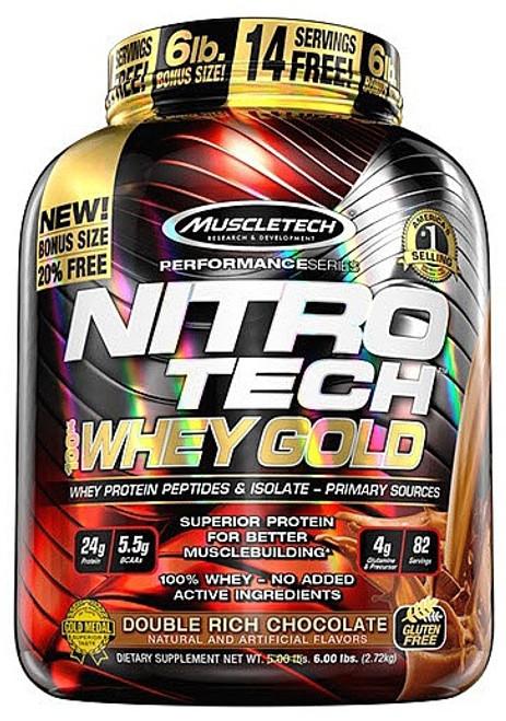 Muscletech NITRO TECH 100% Whey Gold 2.7 KG (6 LB)