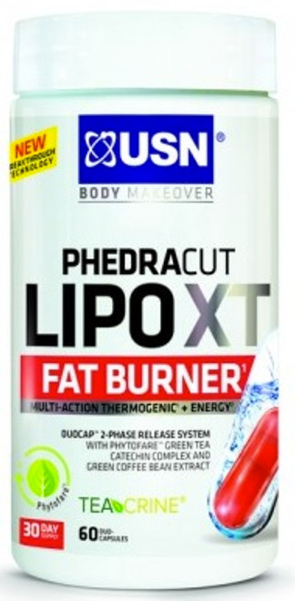 USN PhedraCut Lipo XT Fat Burner 60 Duo-Capsules