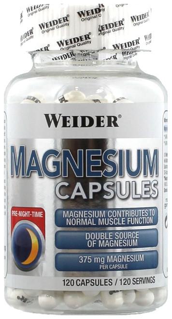 Weider Magnesium Capsules 120 Capsules