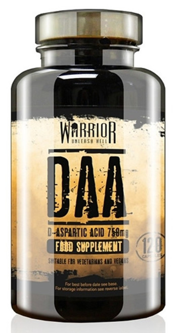 Warrior DAA (D-Aspartic Acid) 120 Capsules